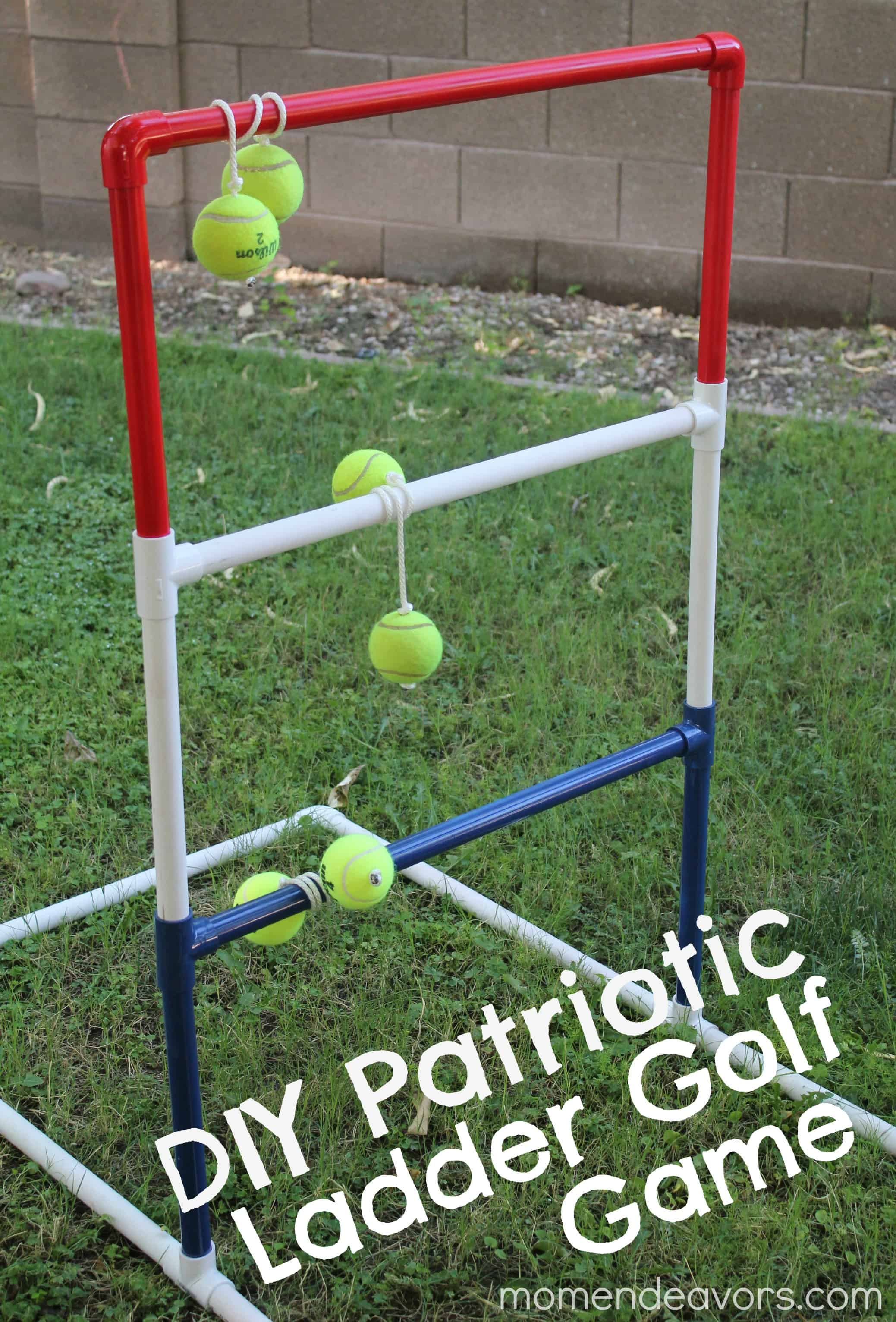 Pvc pipe and tennis ball golf game