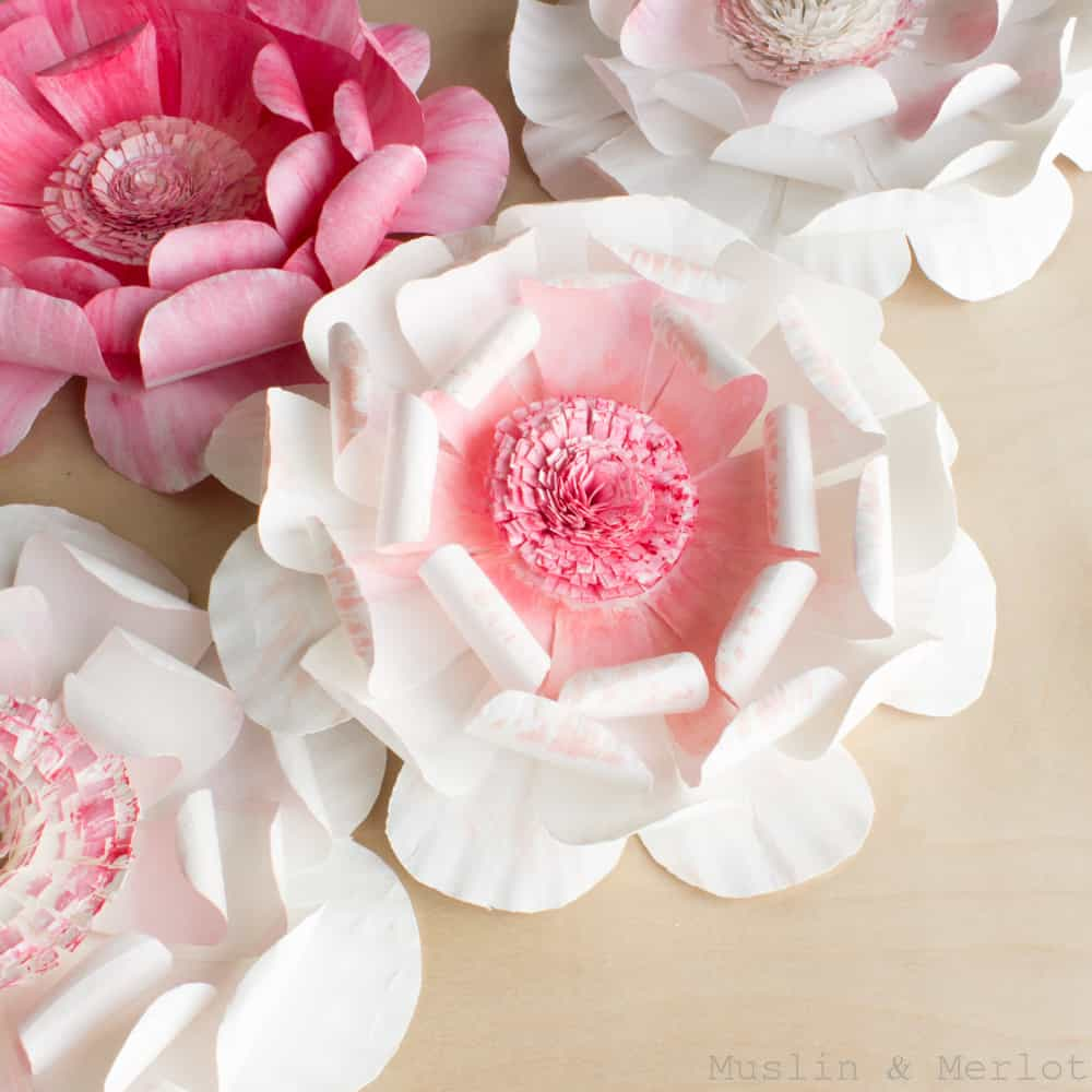 Paper plate flower tutorial
