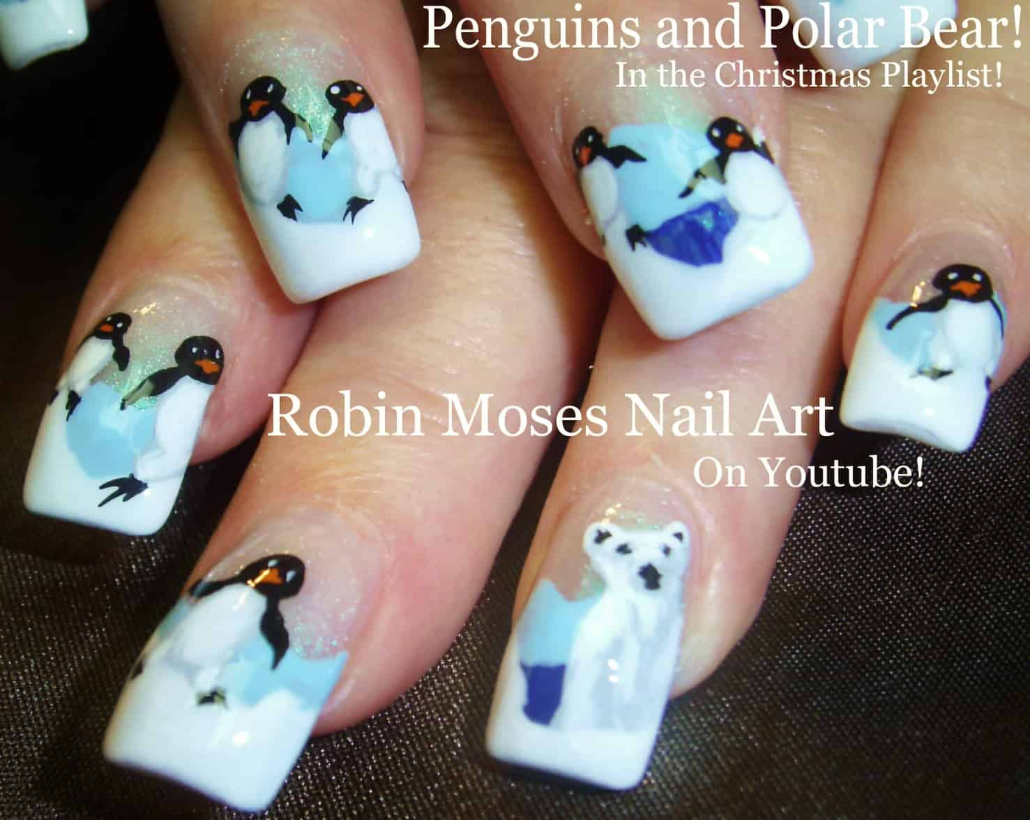 Penguin and polar bear nails