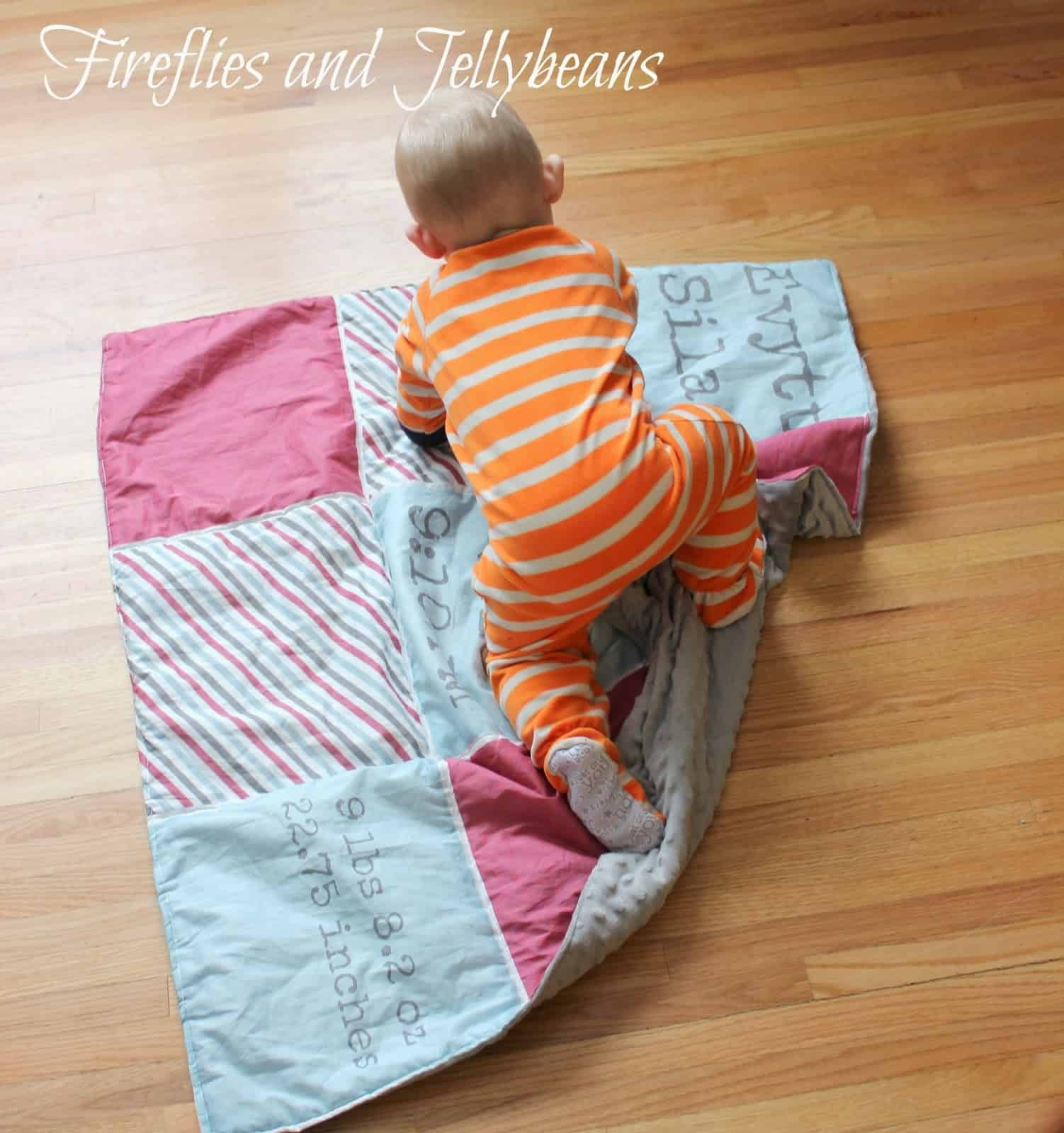 Personalized birth stats baby blanket