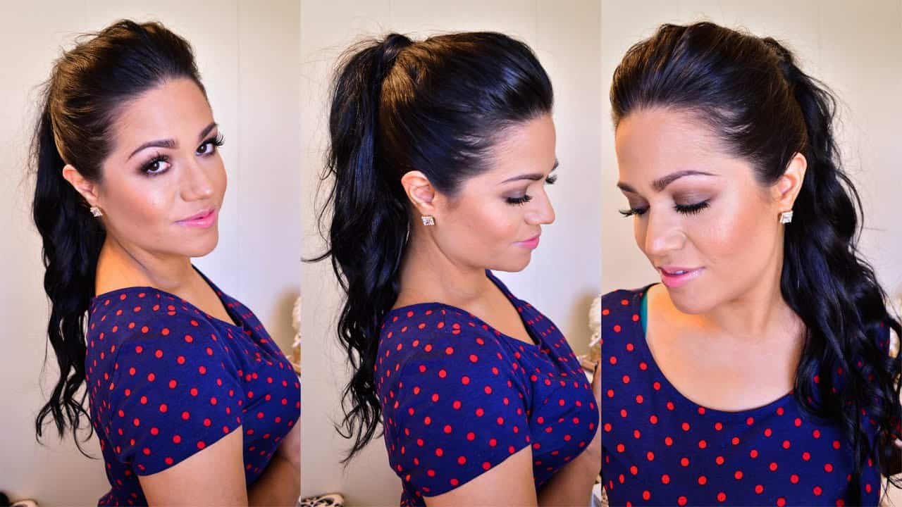 Princess high ponytail tutorial