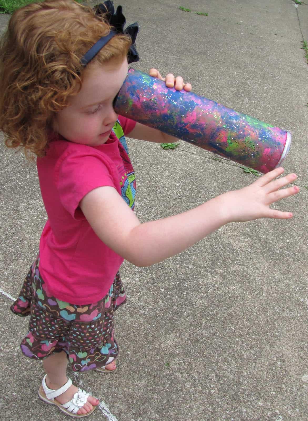 Pringles tube kaleidoscope