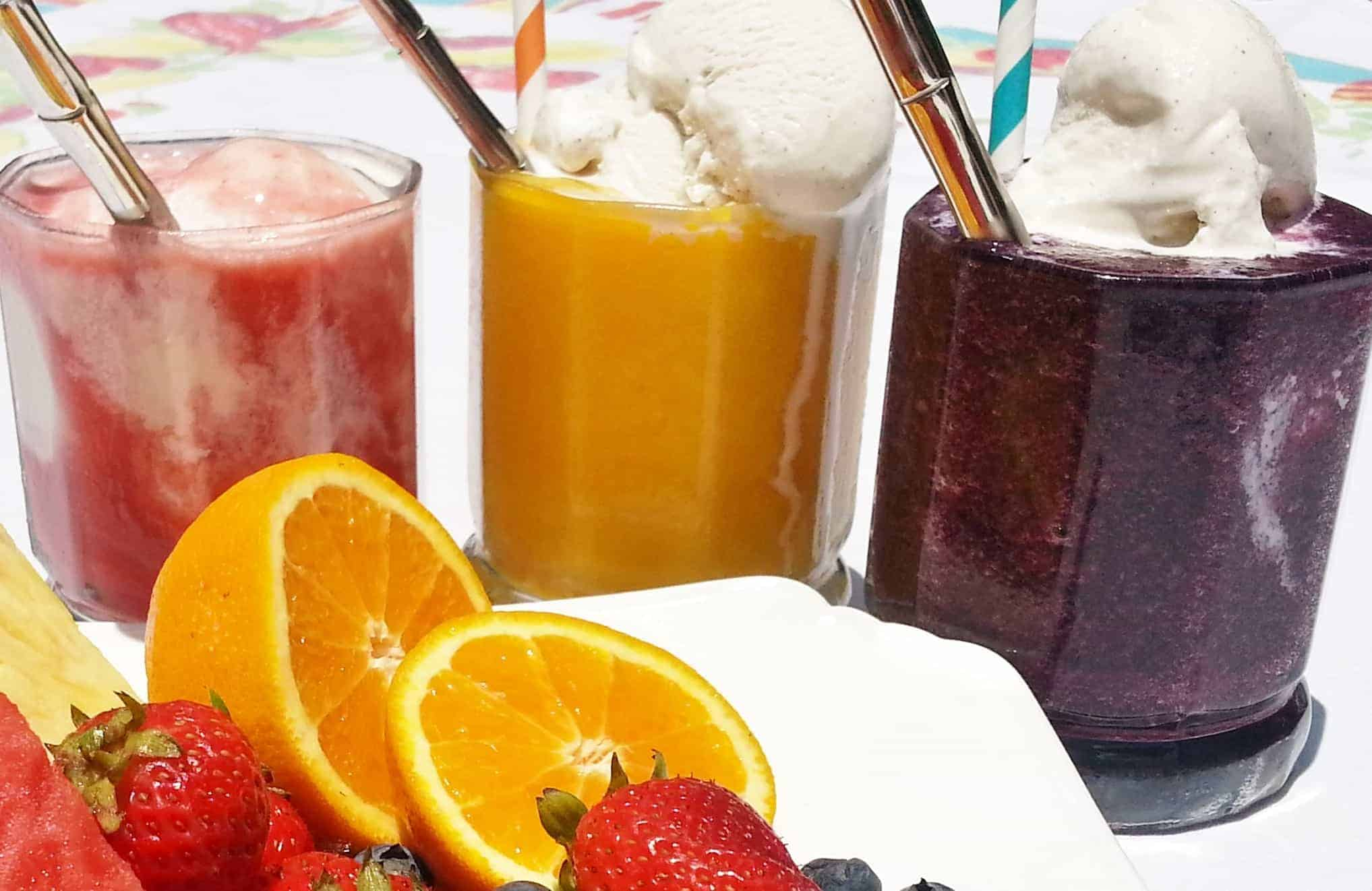 Real fruit floats