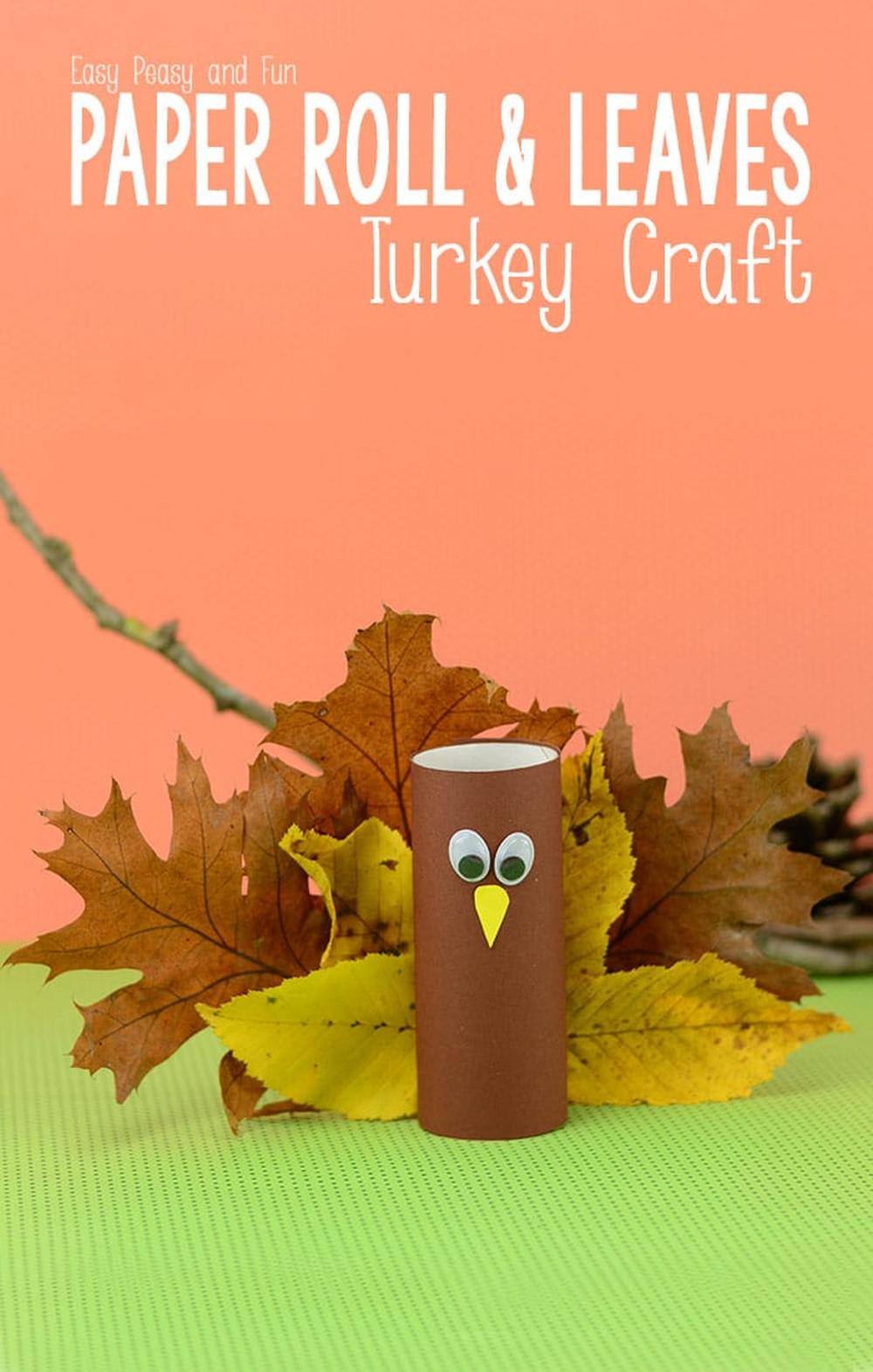 Recycled toilet paper roll turkeys thanksgiving crafts for kids
