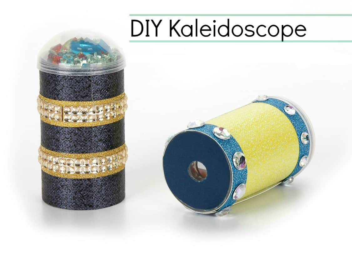 Rhinestoned push pop kaleidoscopes
