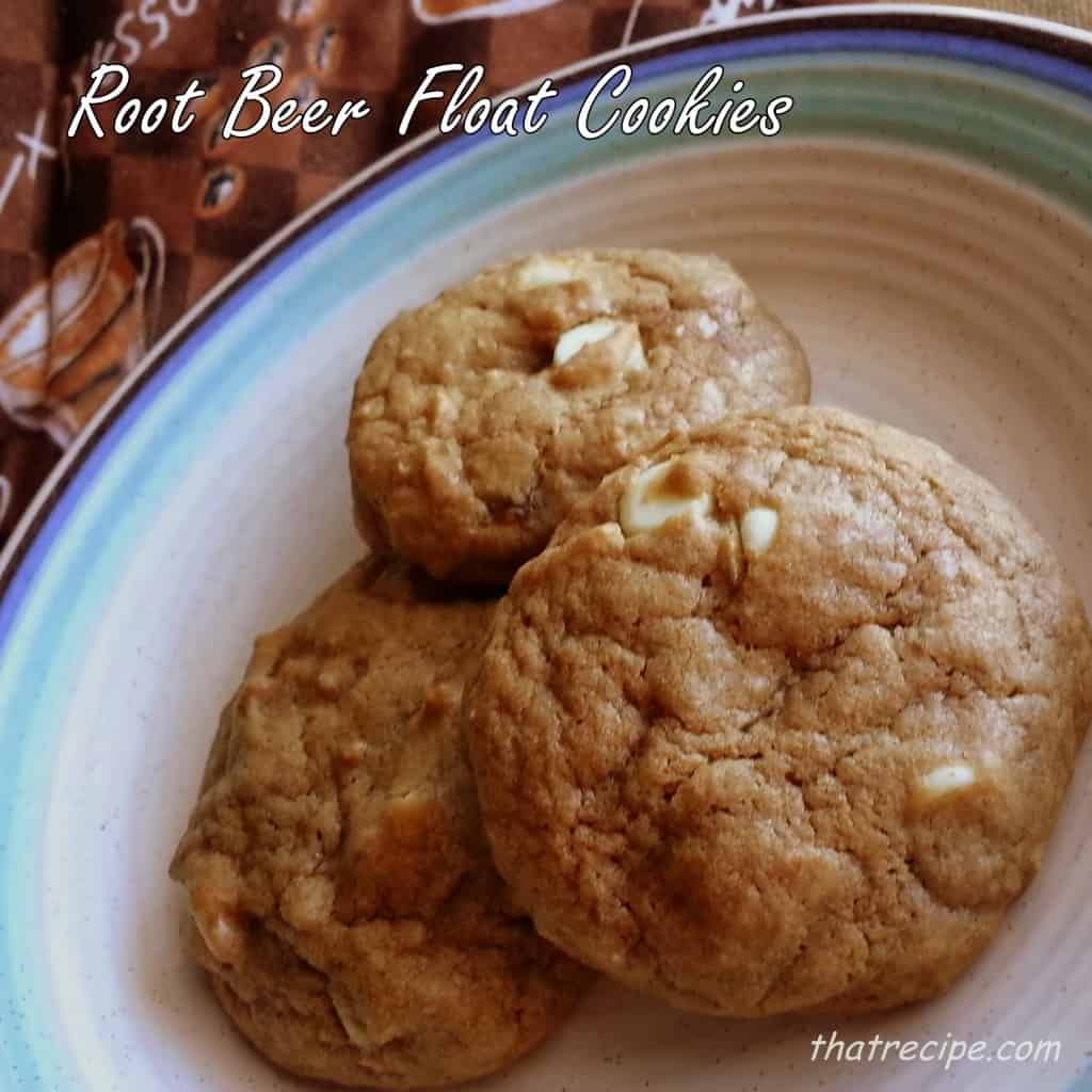 Root beer float cookies with vanilla chocolate chips