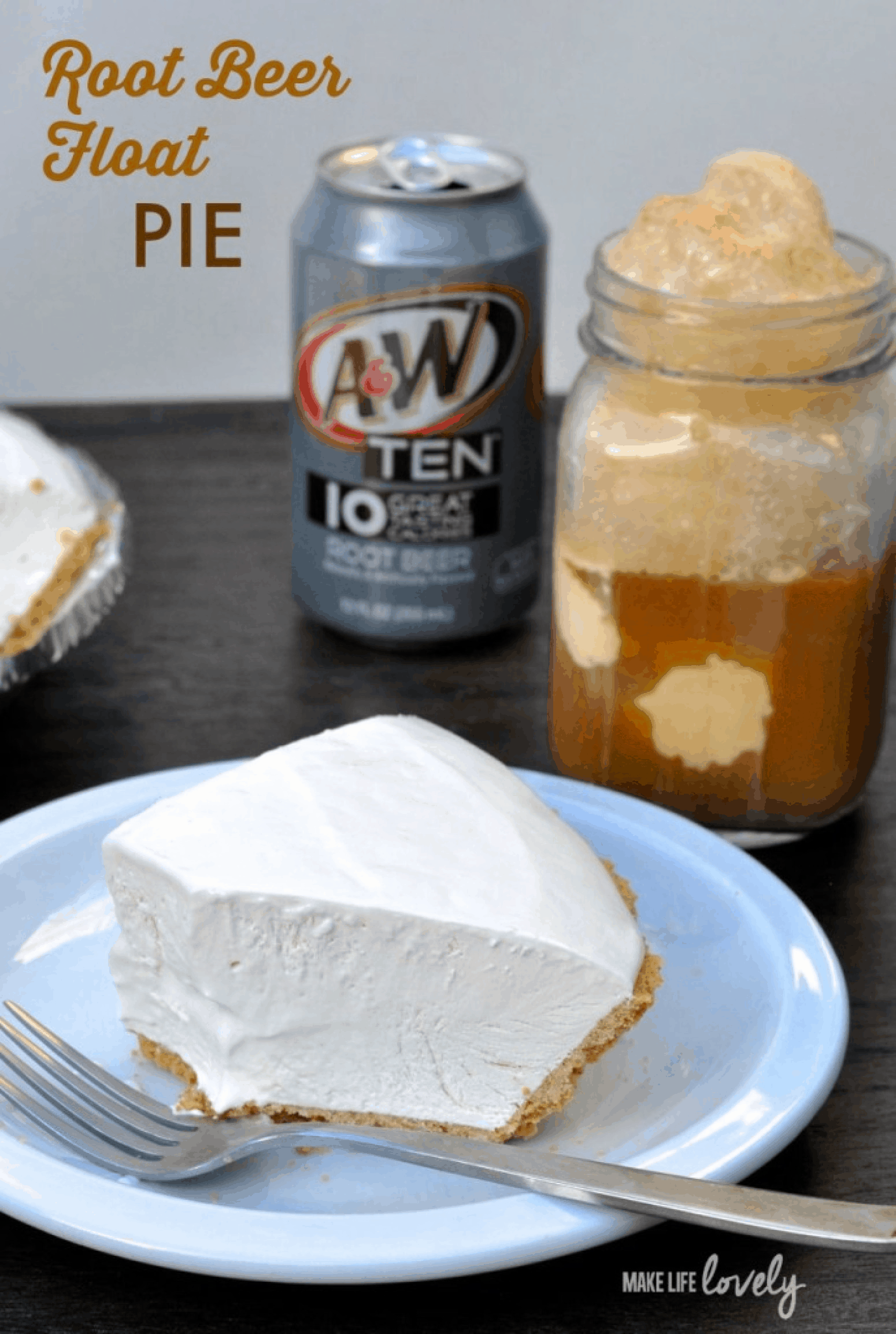 Root beer float cream pie