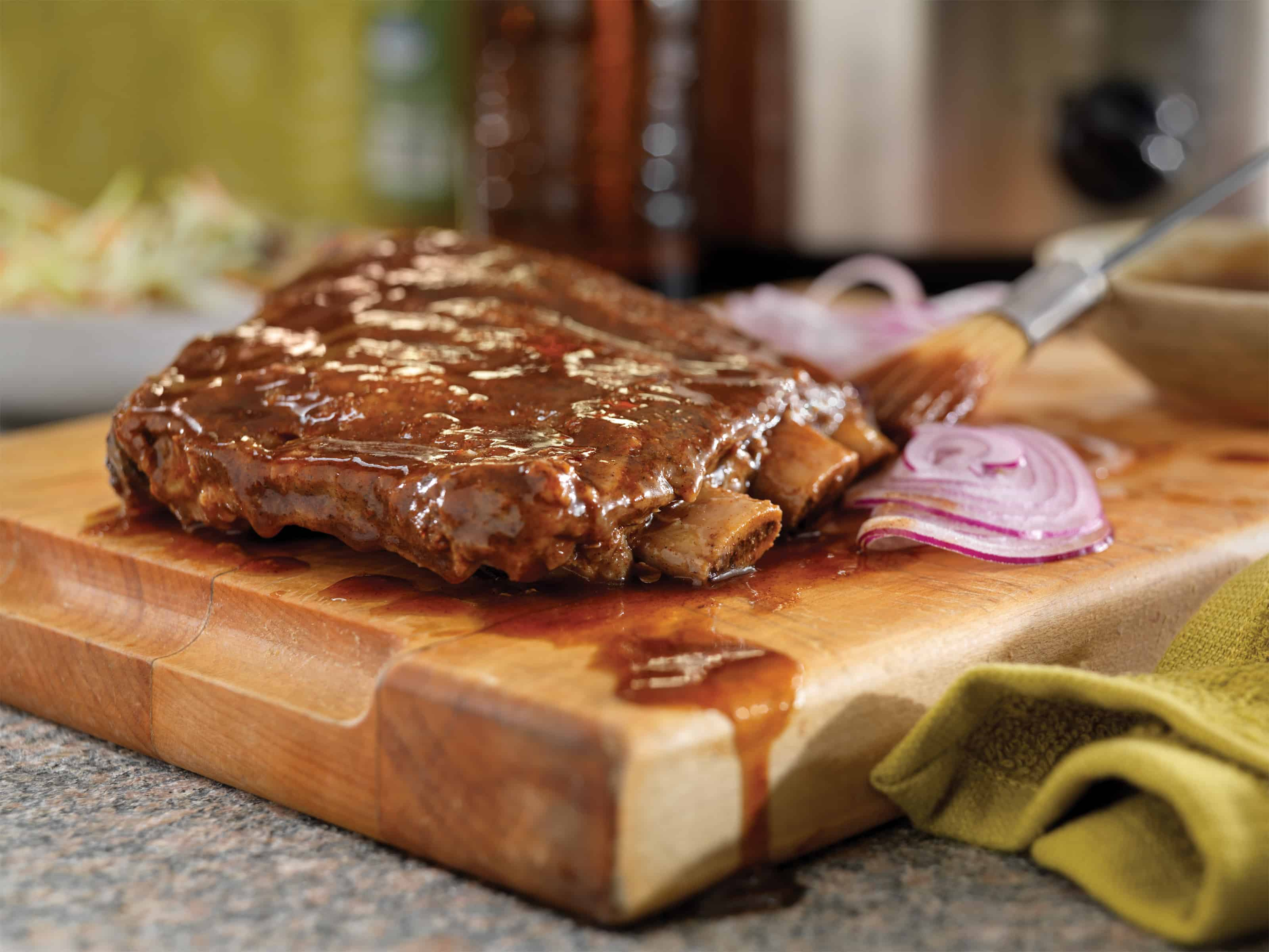 Root beer slow cooker spare ribs