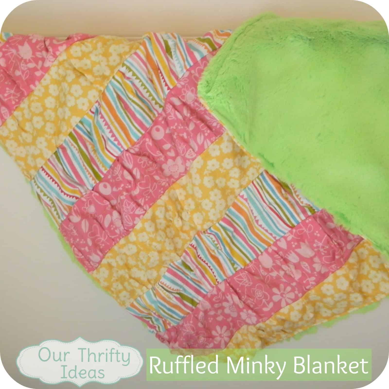 Ruffled baby blanket