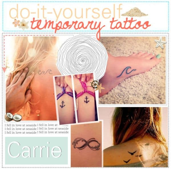 15 Awesome Crafts Made With Temporary Tattoos
