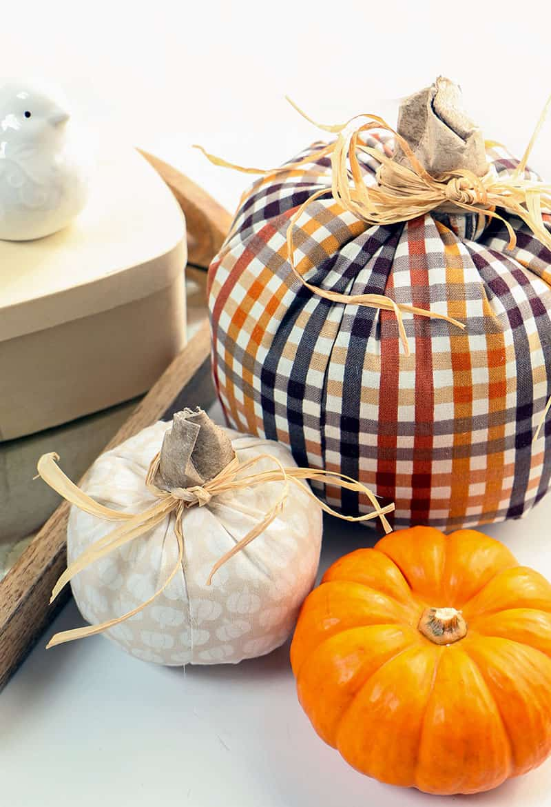 Simple diy fabric pumpkins diy