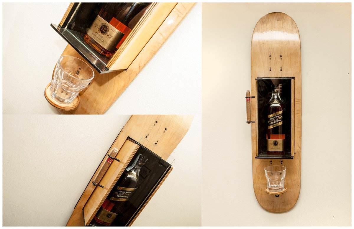 Skateboard wall bar