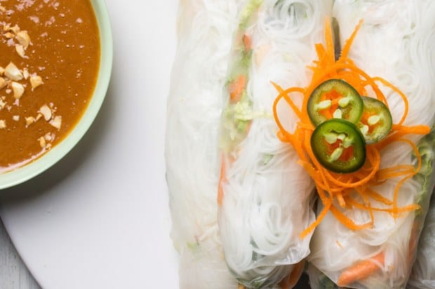 Spicy summer rolls