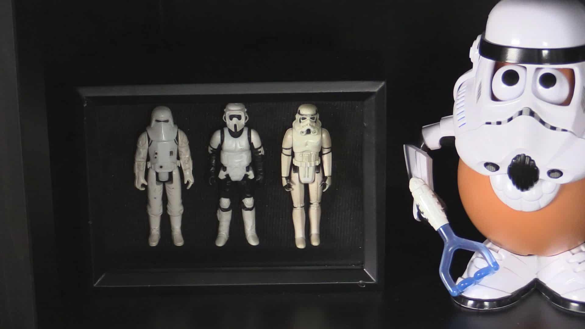Star wars action figures shadow box display