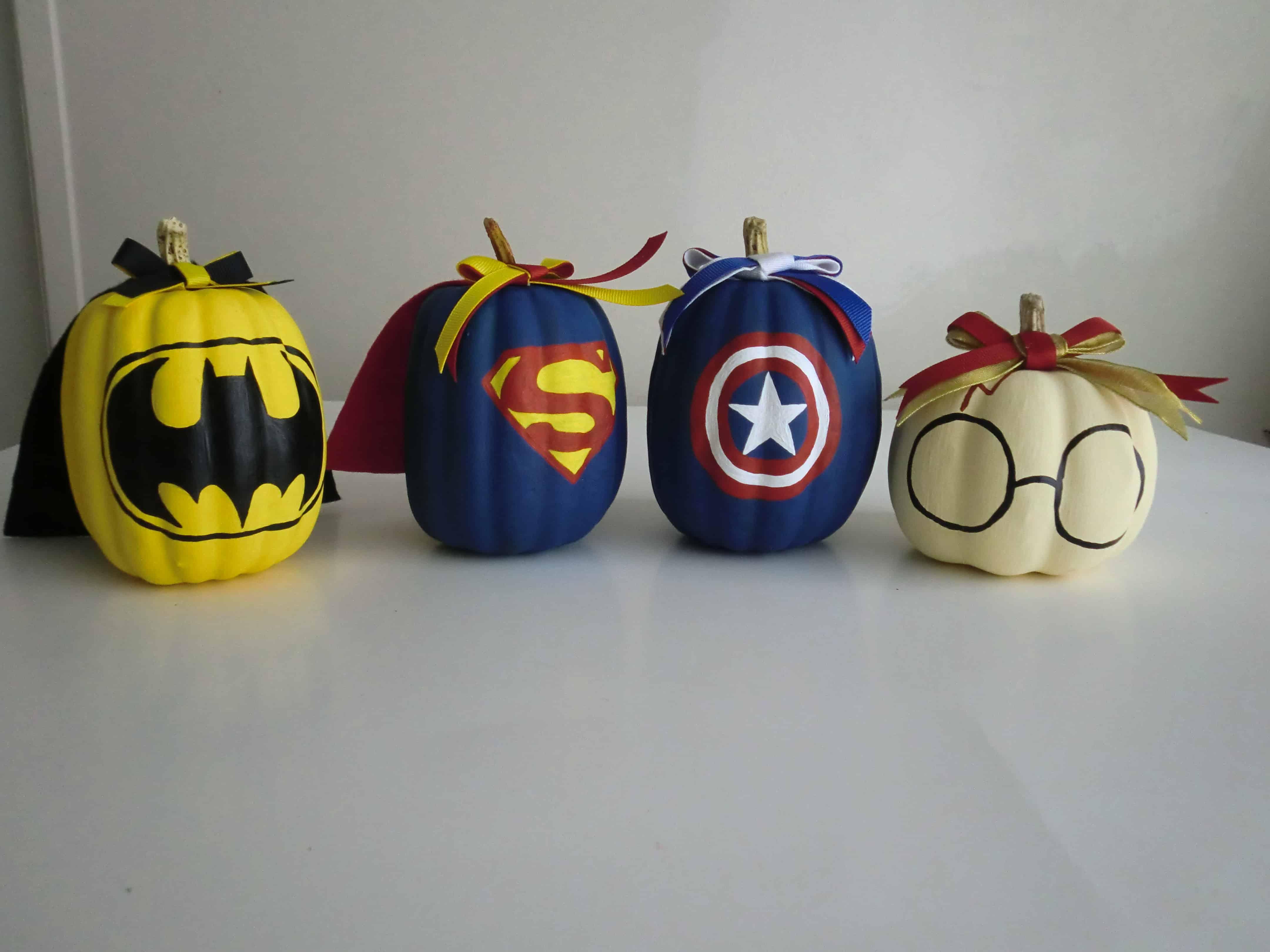 Super hero pumpkins