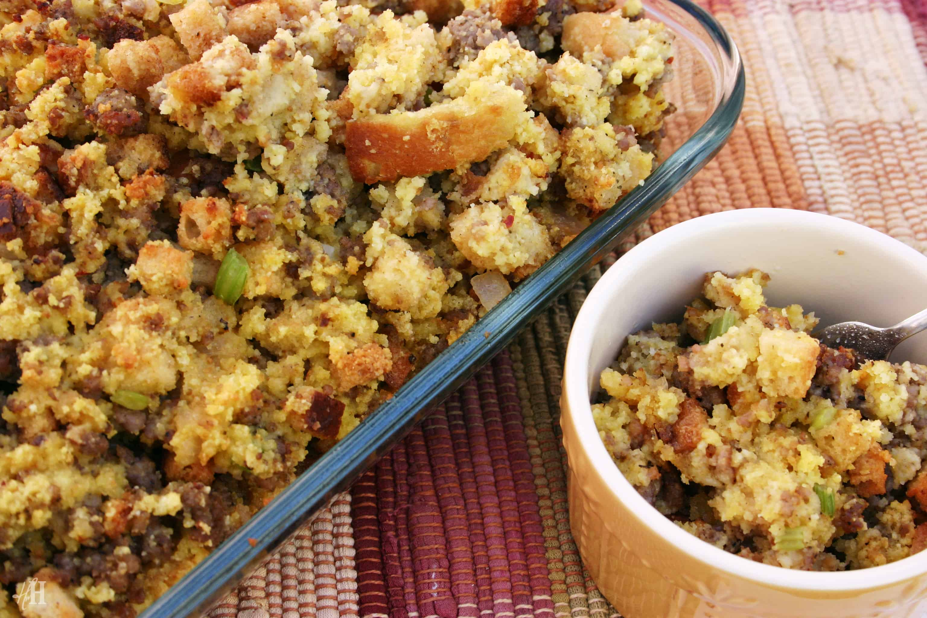 Sweet and savoury cornbread stuffing