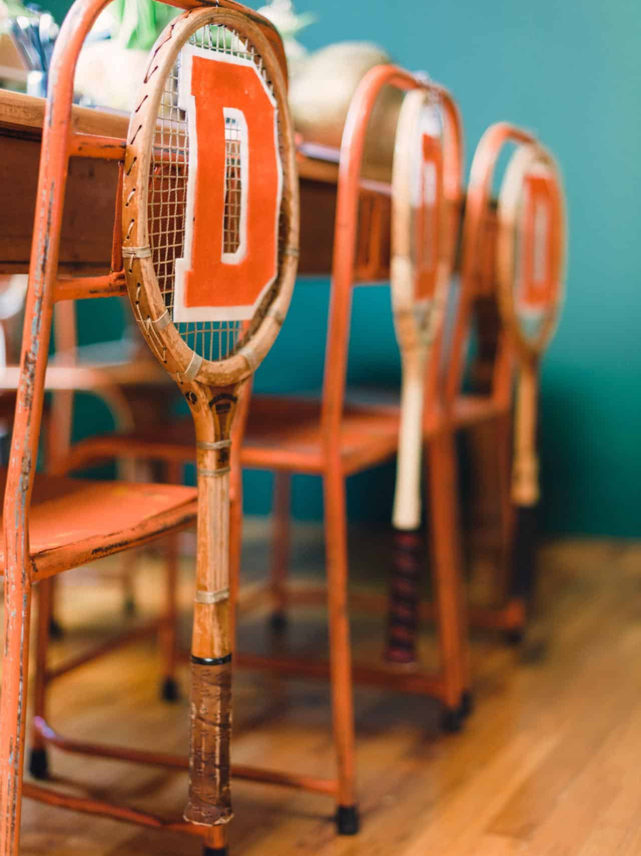 Tennis racket chairs