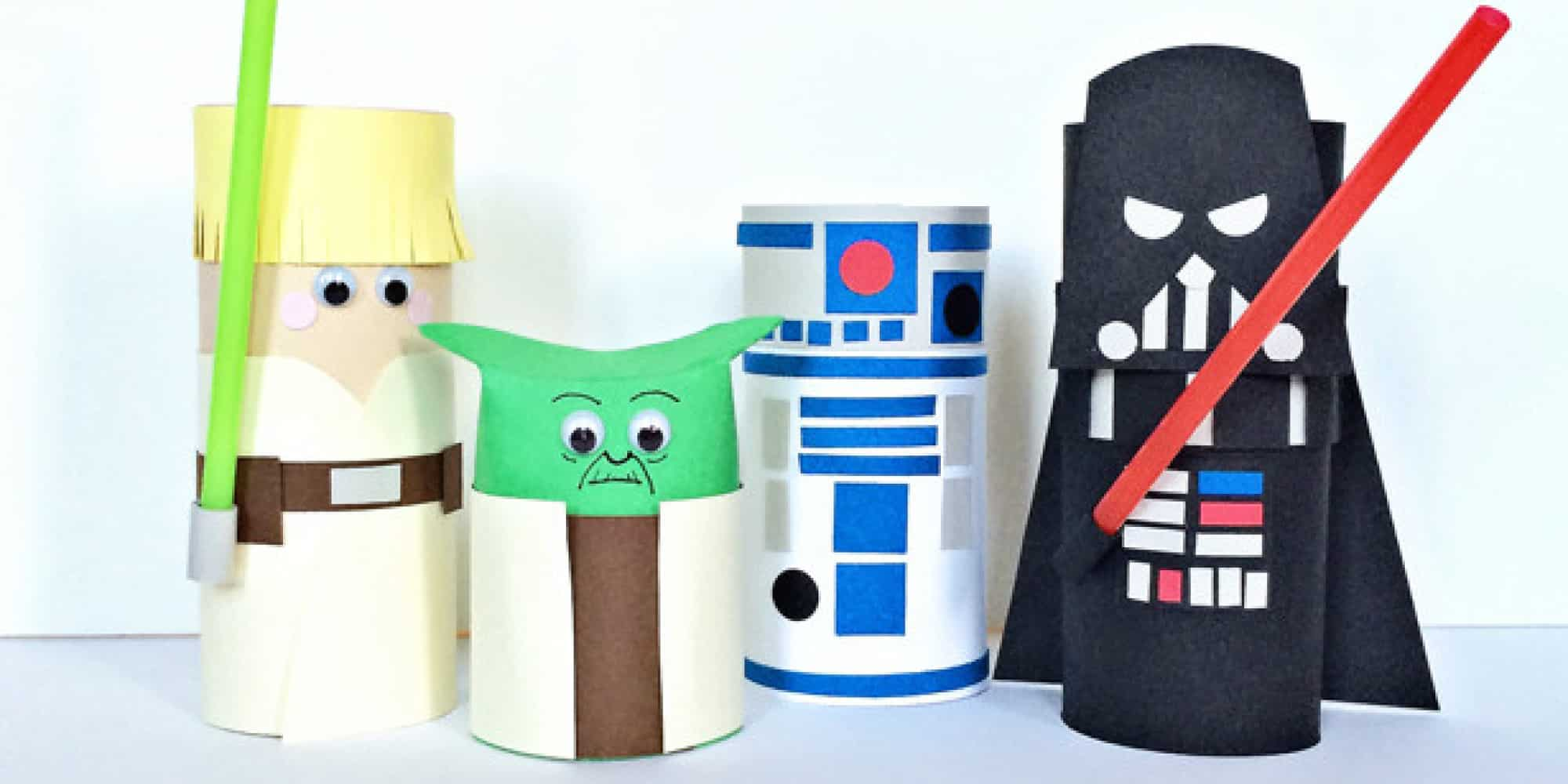 Toilet paper roll star wars characters