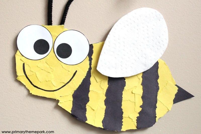 Torn paper bumblebee