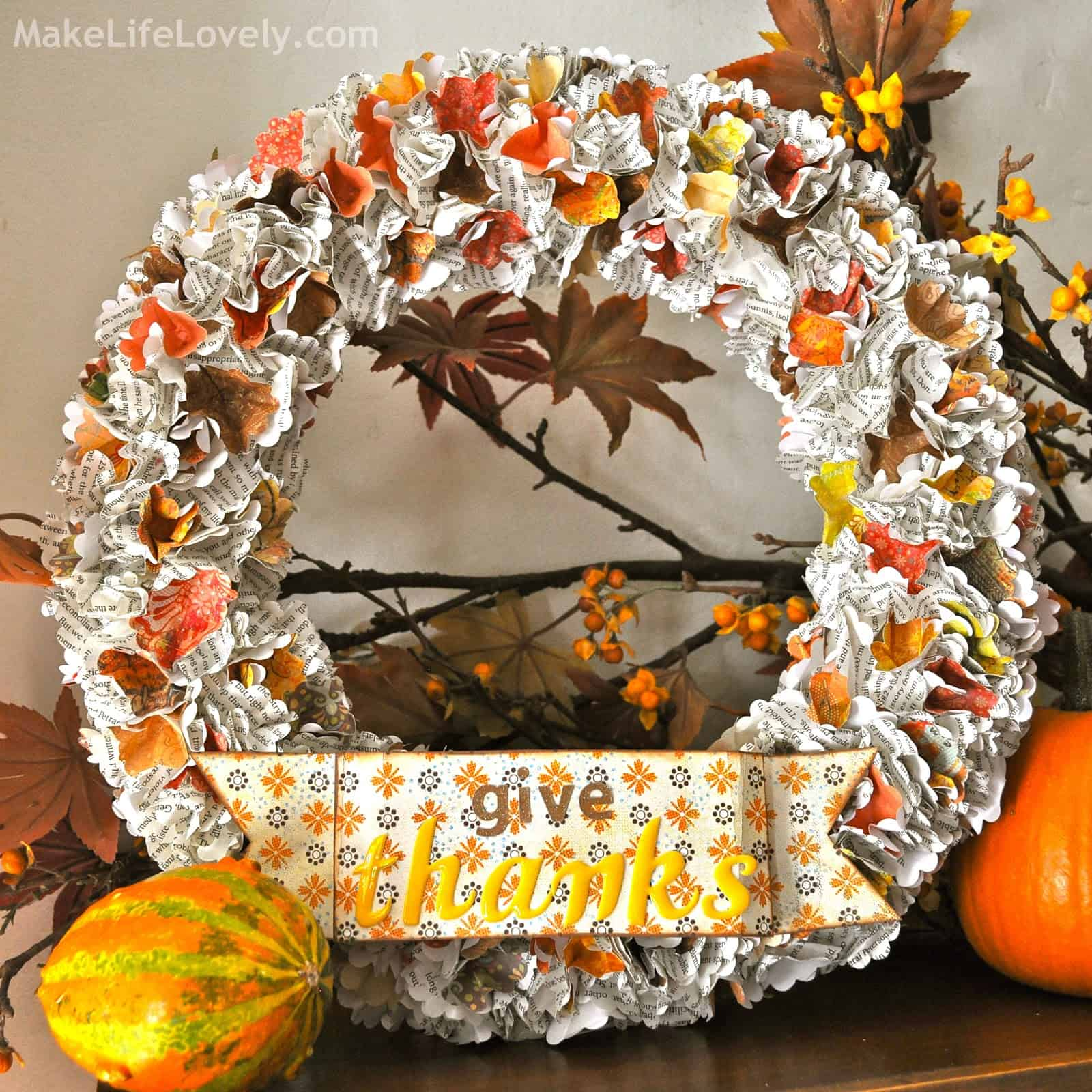 Upcycled paper flower wreaths