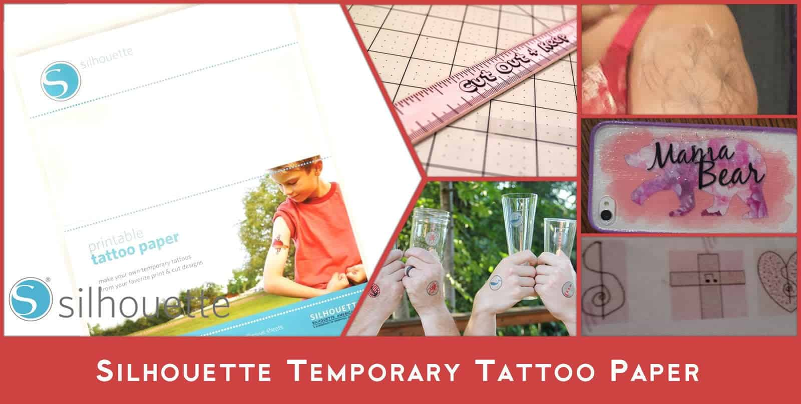Vinyl cutter temporary tattoo