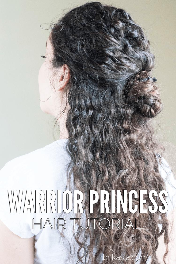 Warrior princess tutorial hair