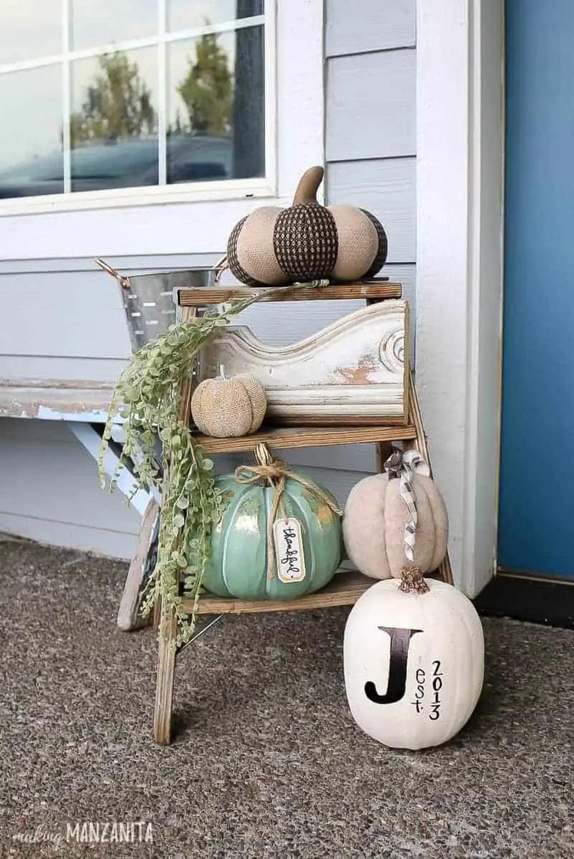 Writable white pumpkin thankful thanksgiving crafts