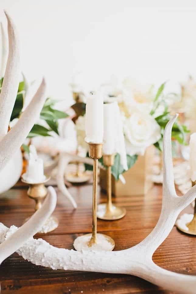 Antler centerpiece wedding idea