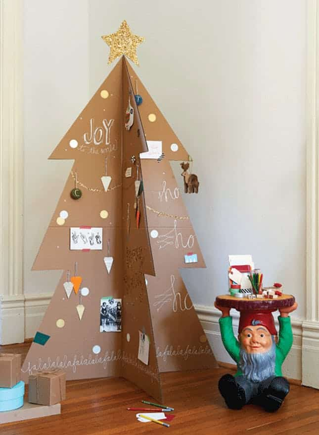 Cardboard christmas tree diy