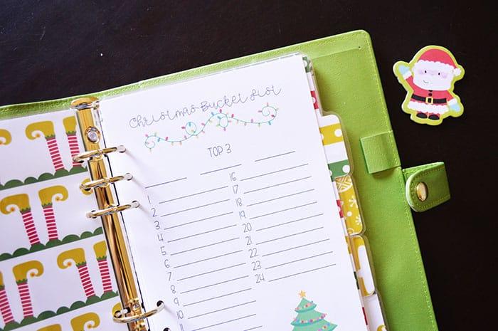 Christmas planner diy