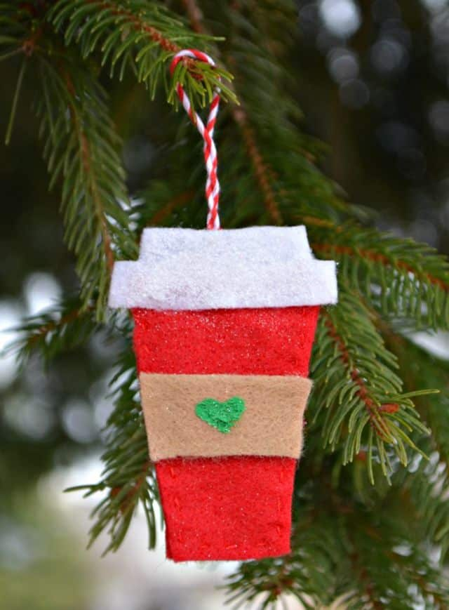 Coffee cup christmas ornamanet diy