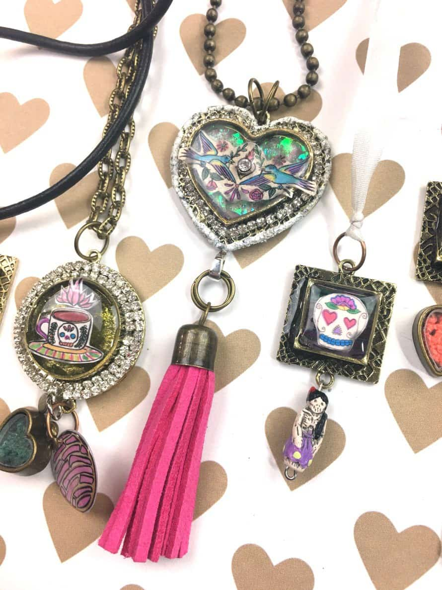 Diy 80s resin jewelry