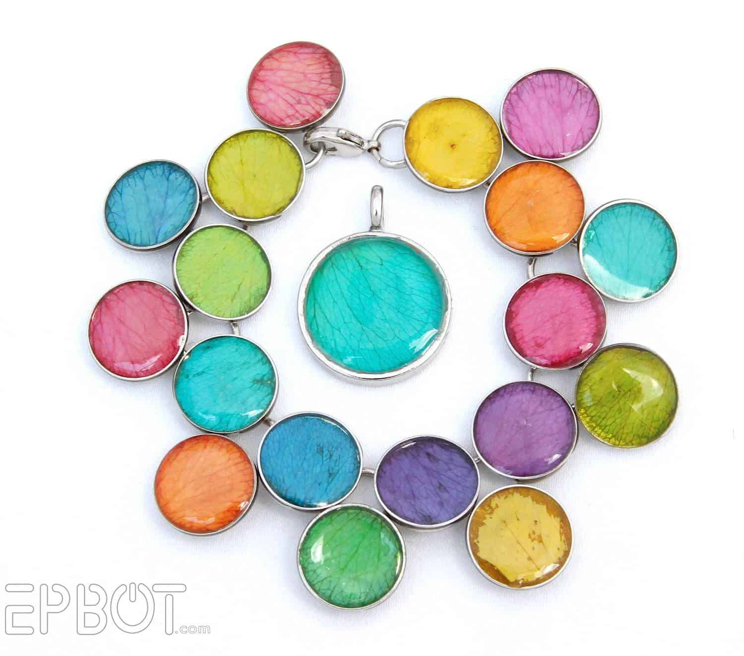 Diy colorful resin bracelet