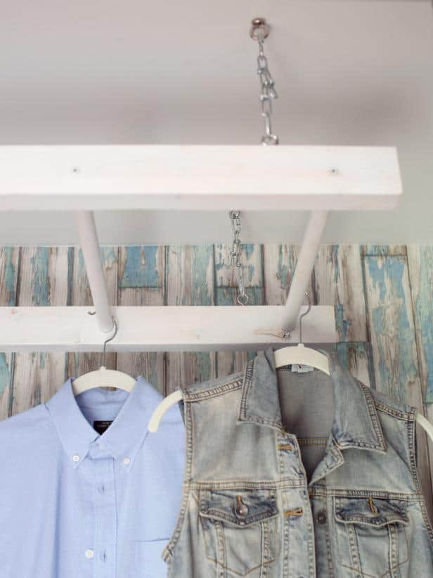 Diy drying rack from old ladder