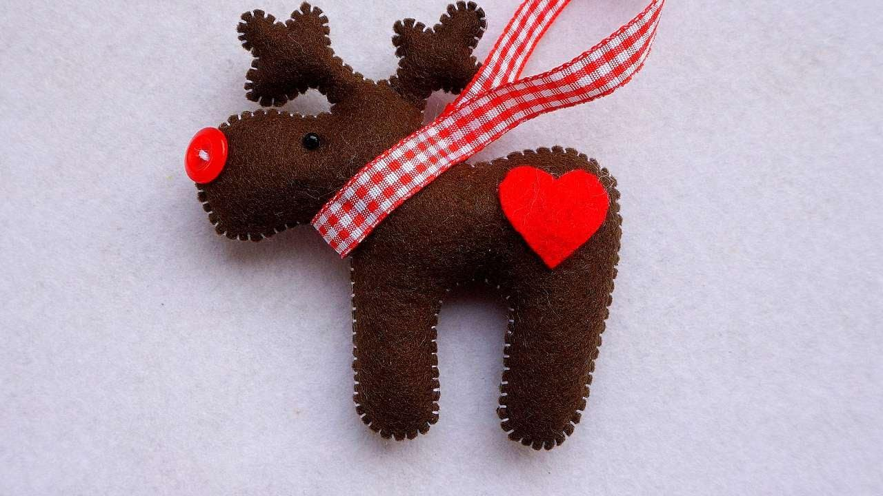 Diy Felt Reindeer Ornament