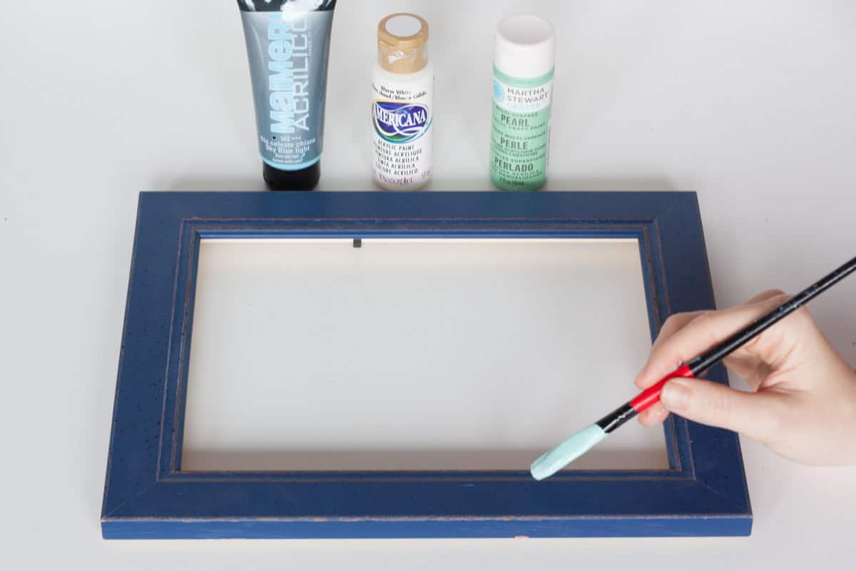 Diy frame calendar paint
