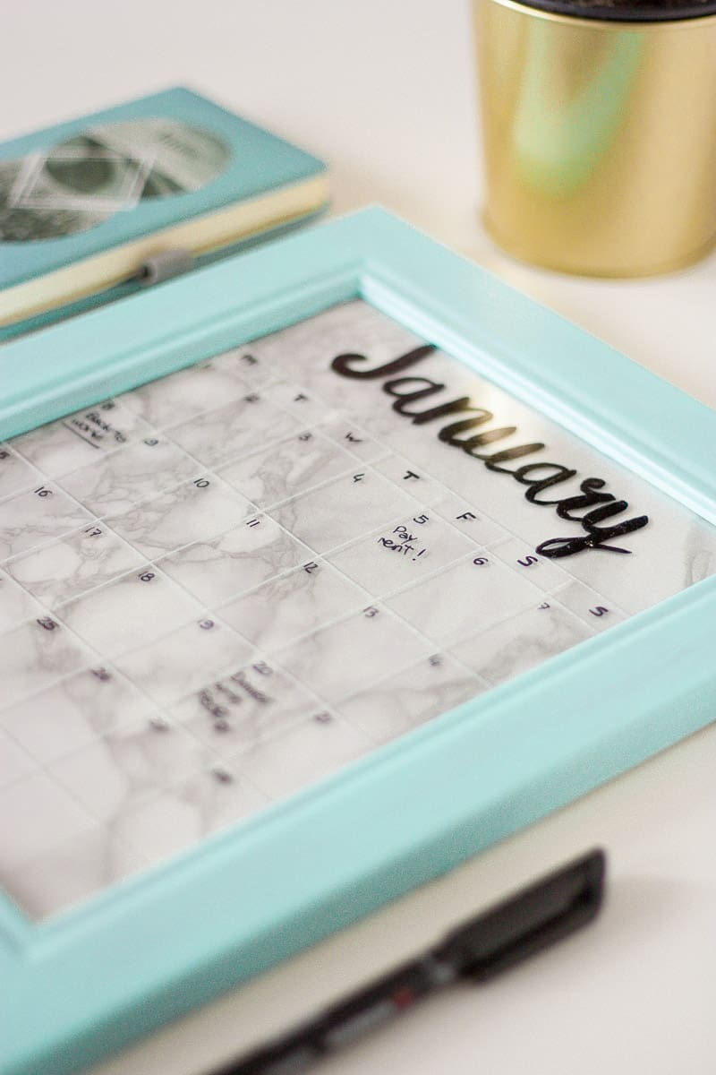 Diy frame calendar set1