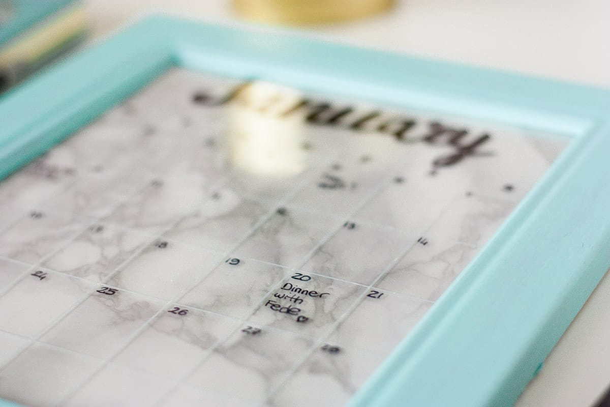 Diy frame calendar set2
