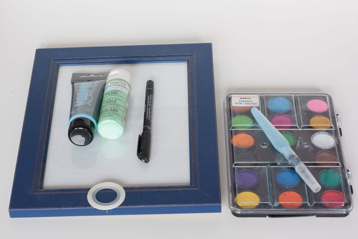 Diy frame calendar supplies