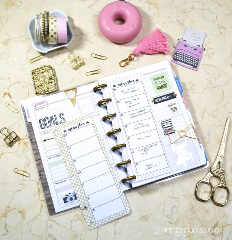 Diy mini planner
