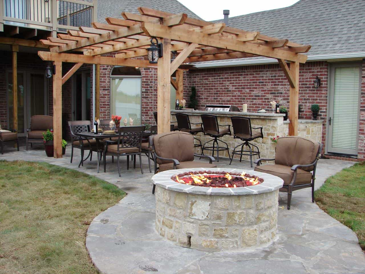 15 Outdoor Kitchen Designs That You Can Help DIY on Small Outdoor Fireplace Ideas id=29338