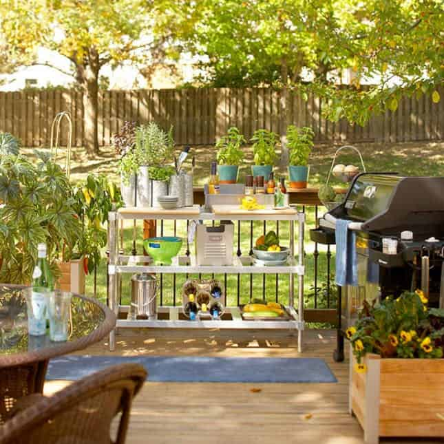 Backyard Kitchen Garden: 15 Outdoor Kitchen Designs That You Can Help DIY