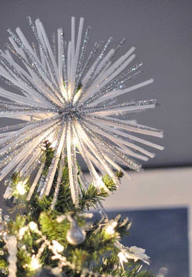 Diy pipe cleaner christmas tree topper