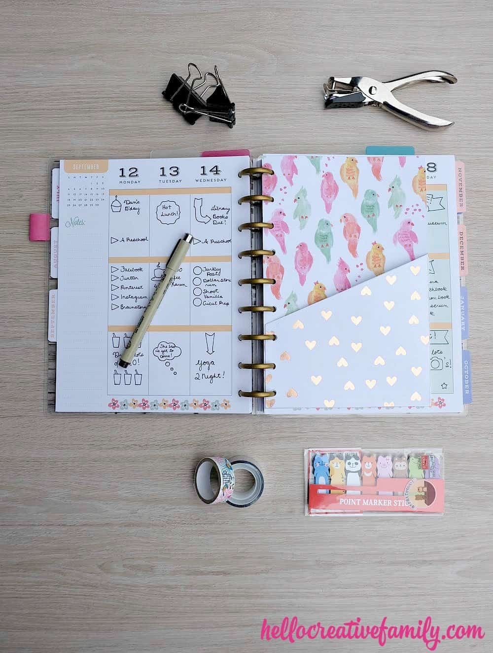 Diy planner pockets
