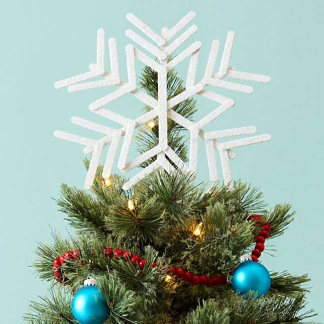 Diy popsicle star tree topper