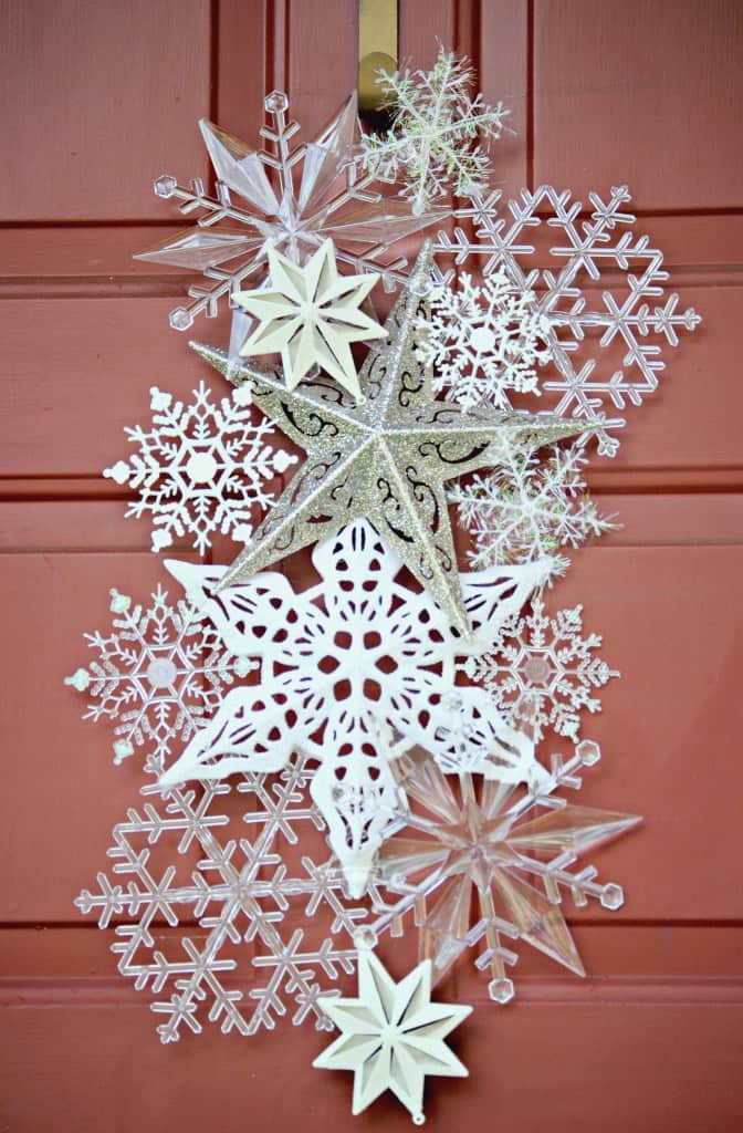 Diy snowflake door hanger