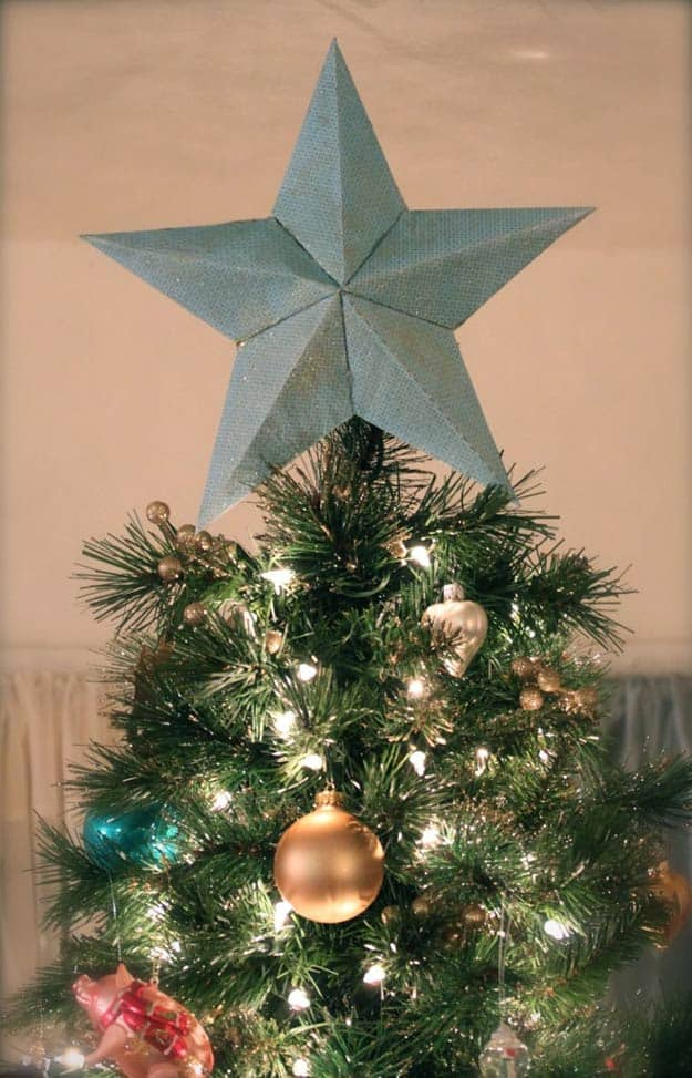 Diy textured tree topper