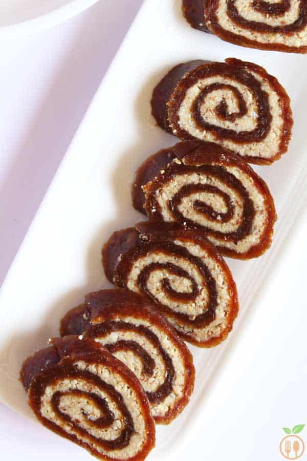 Easy vegan date roll recipe sugar free