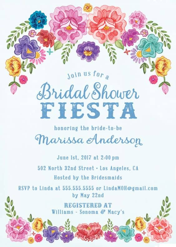 Fiesta themed bridal shower