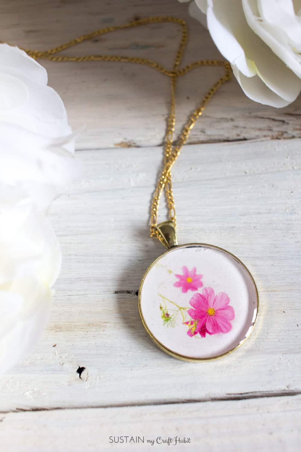 Flower charm resin pendants diy